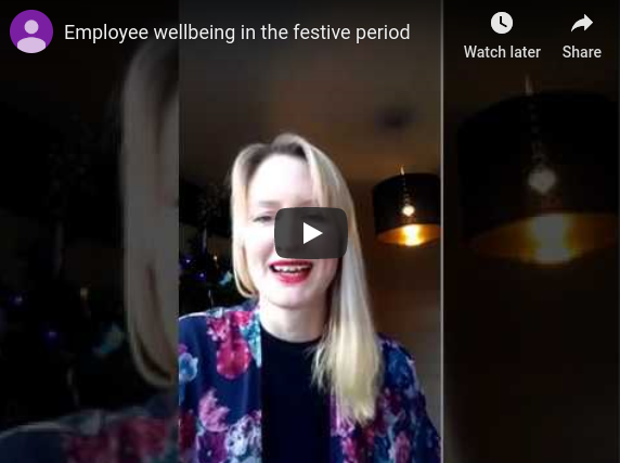 Employee wellbeing at Christmas